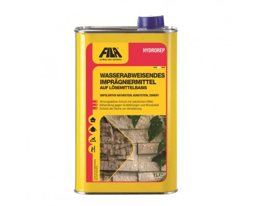 FILA HYDROREP - Wasserabstoßende, transparente Imprägnierung für Naturstein und Zement im Innen- und Außenbereich